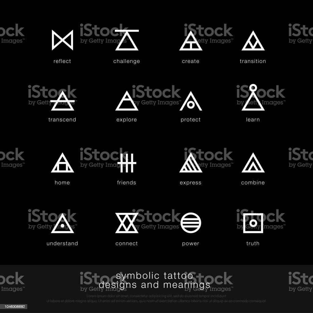 Symbolic Tattoo Design And Meaning Minimalist Graphic Tattoo Icon