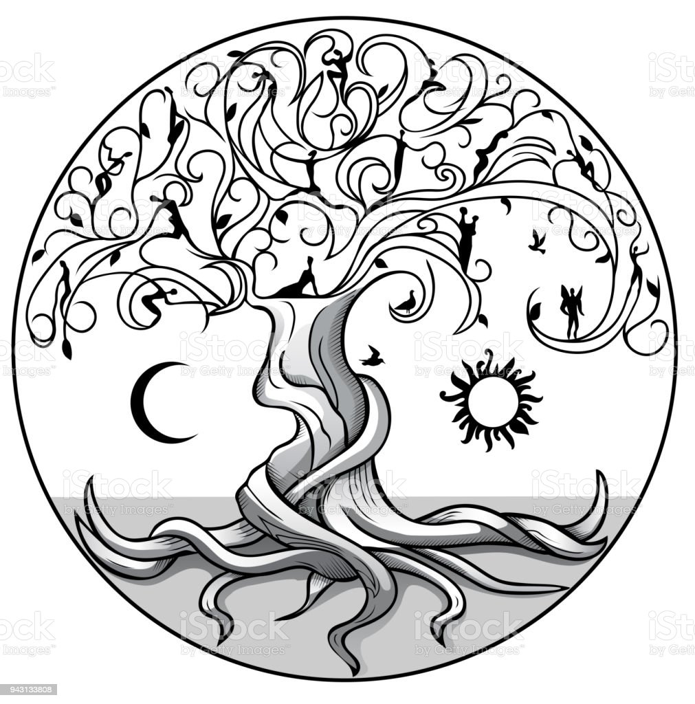 Symbolic Tree Of Life Stock Vector Art More Images Of Abstract