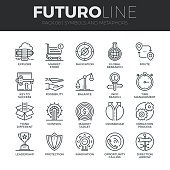 Symbols and Metaphors Futuro Line Icons Set