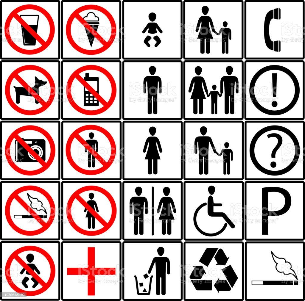 Un Toilette Ou Une Toilette symboles pour un magasin ou une toilette hôtel vecteurs