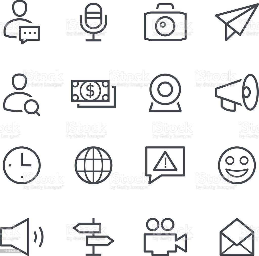 Symbols for different social media platforms vector art illustration