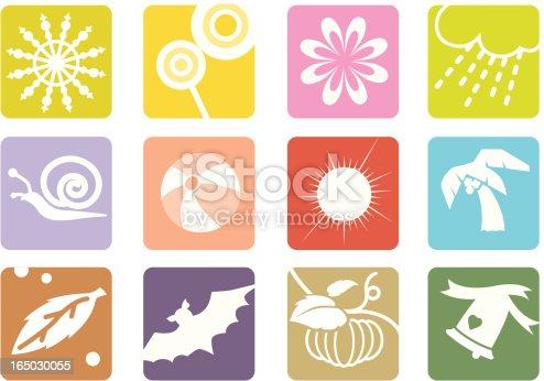 Symbols of 12 months