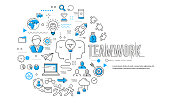 Symbols of an business teamwork lifestyle