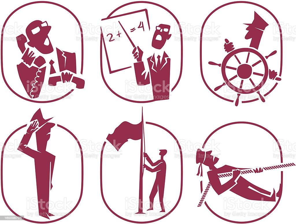 Símbolos de diferentes profesiones. Parte 2 ilustración de símbolos de diferentes profesiones parte 2 y más banco de imágenes de actividad libre de derechos