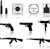 Symbols of guns and gun accessories
