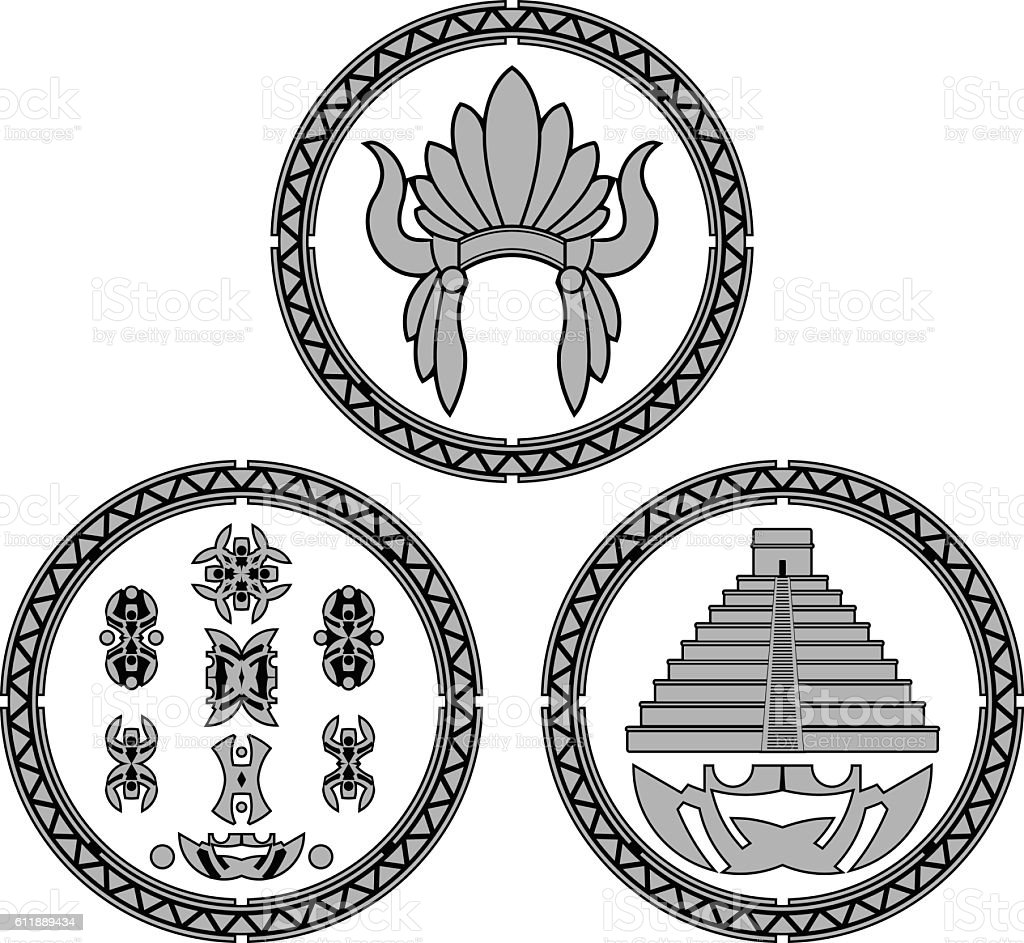 Symbols Of Indians Of Latin America Stock Vector Art & More Images ...