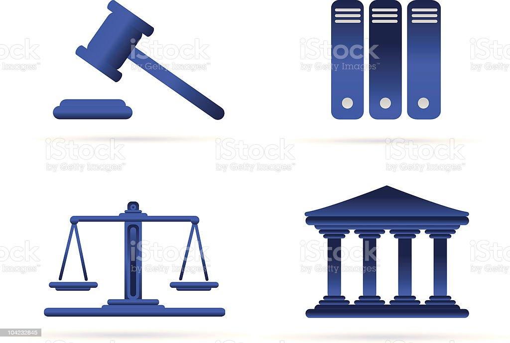 Symbols of Law royalty-free stock vector art