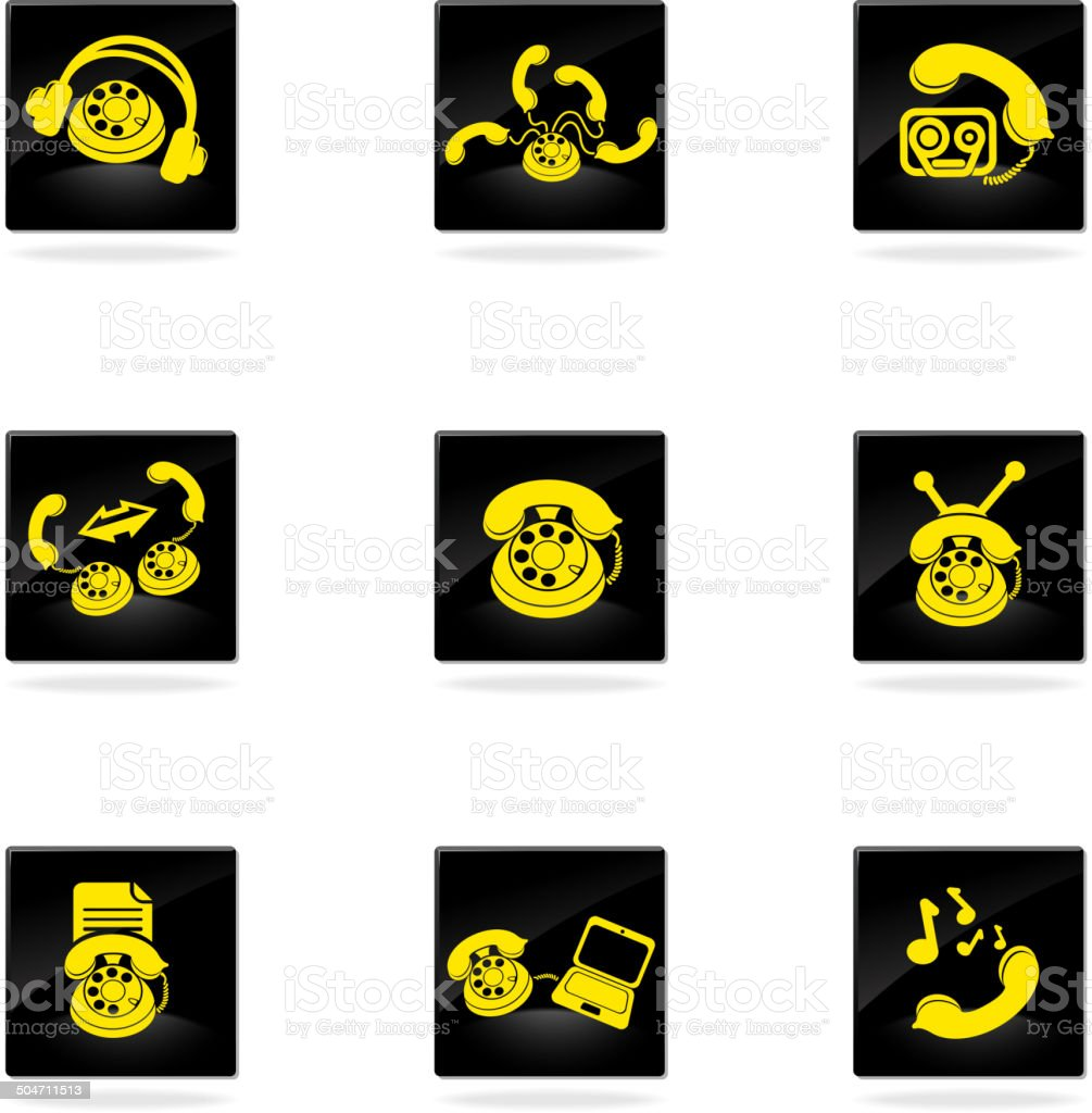 Symbols Of Phone Stock Vector Art 504711513 Istock