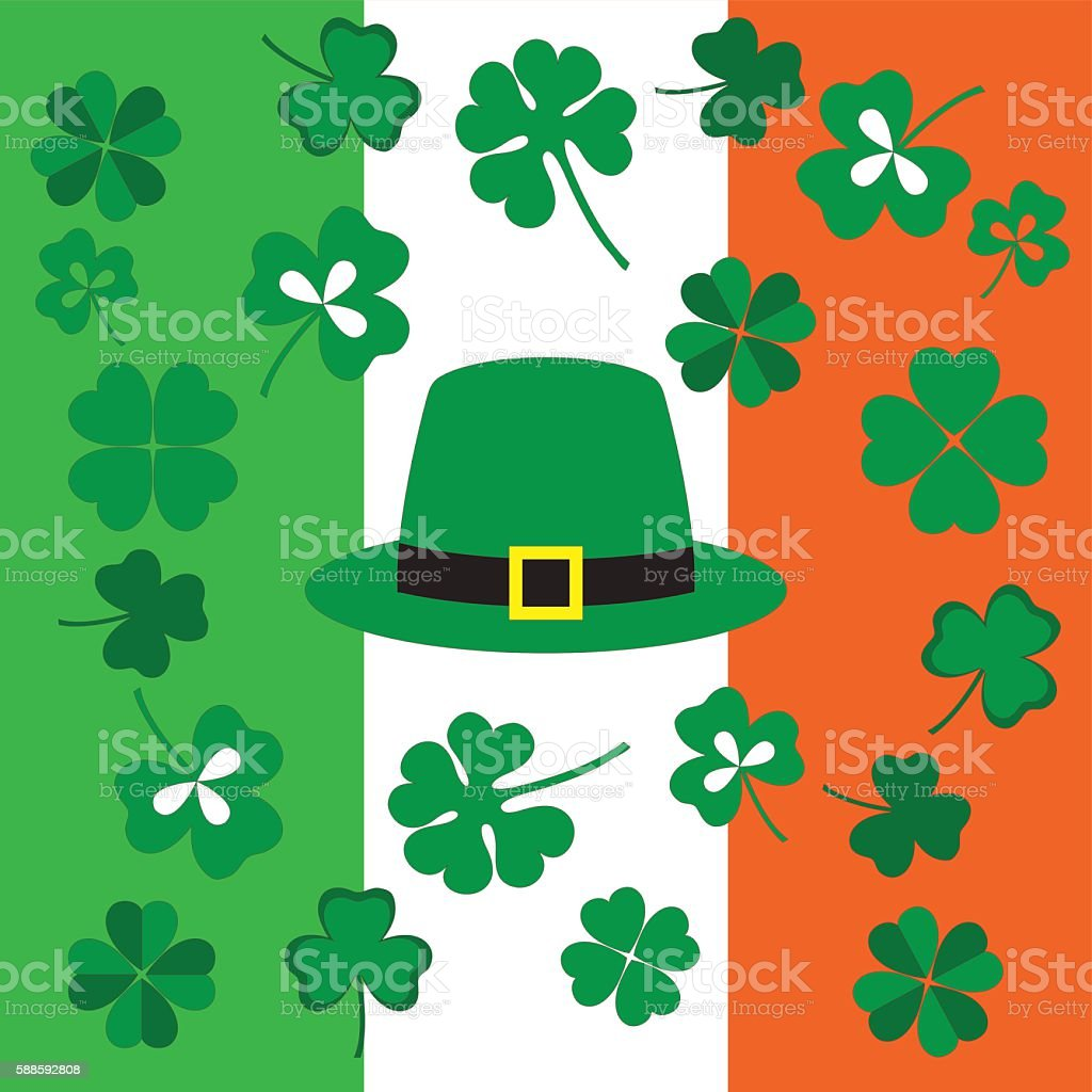 symbols of the St. Patrick's Day vector art illustration