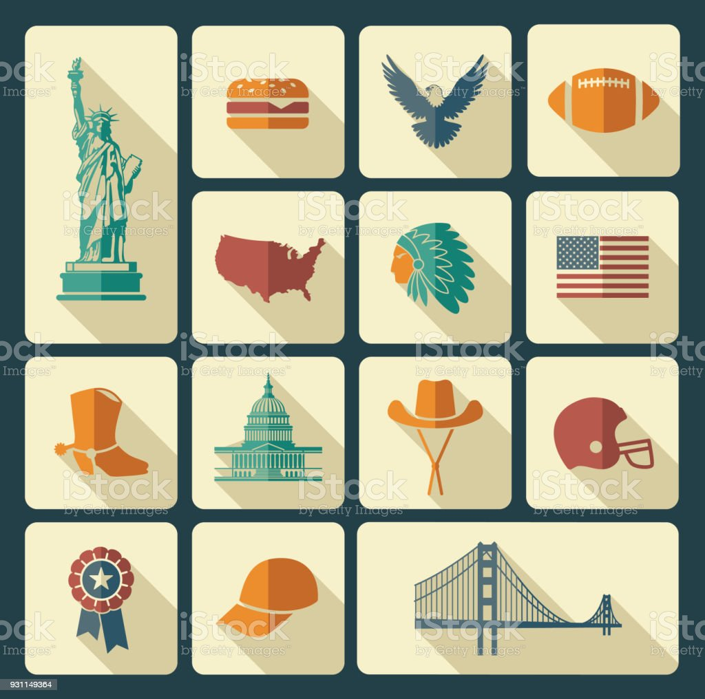 Symbols Of The Usa Stock Vector Art More Images Of Architecture