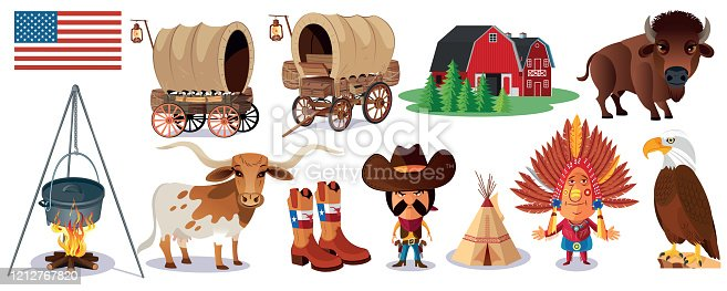 istock USA, Symbols of the wild west 1212767820
