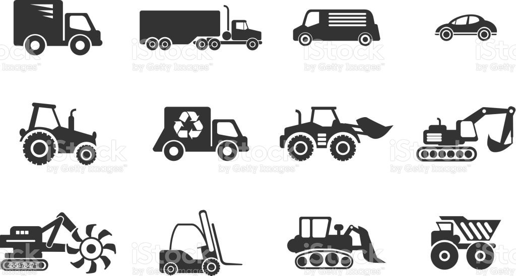 Symbols Of Transportation Loading Machines Stock Vector Art More