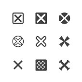 X Symbols, Rejected Mark Icons
