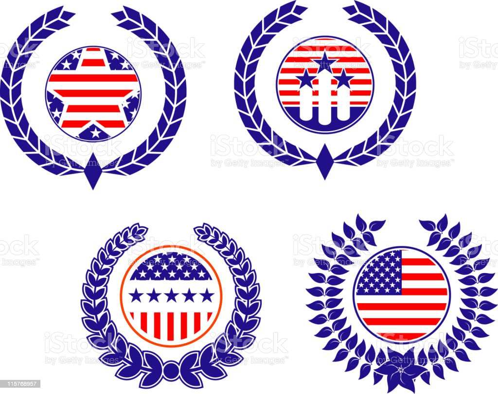 USA symbols royalty-free stock vector art