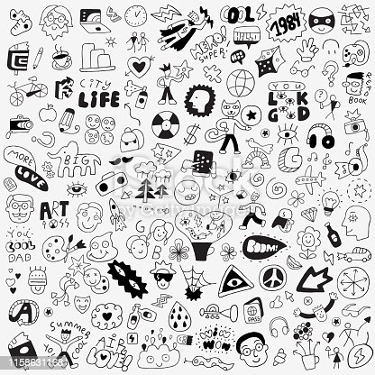 symbols,lettering,characters - big doodle set