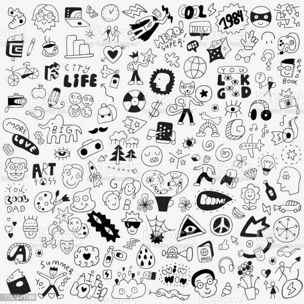 Symbolsletteringcharacters big doodle set vector id1158631168?b=1&k=6&m=1158631168&s=612x612&h=a6ob iz3dlwt9 raxtyfjghaanypxzao wkomllcuei=