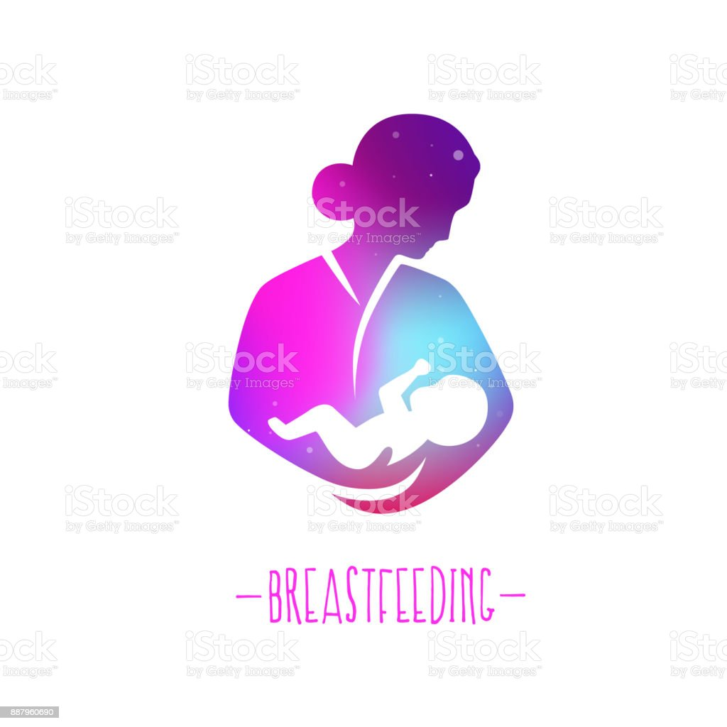 Symbolss of child care, motherhood and childbearing. vector art illustration