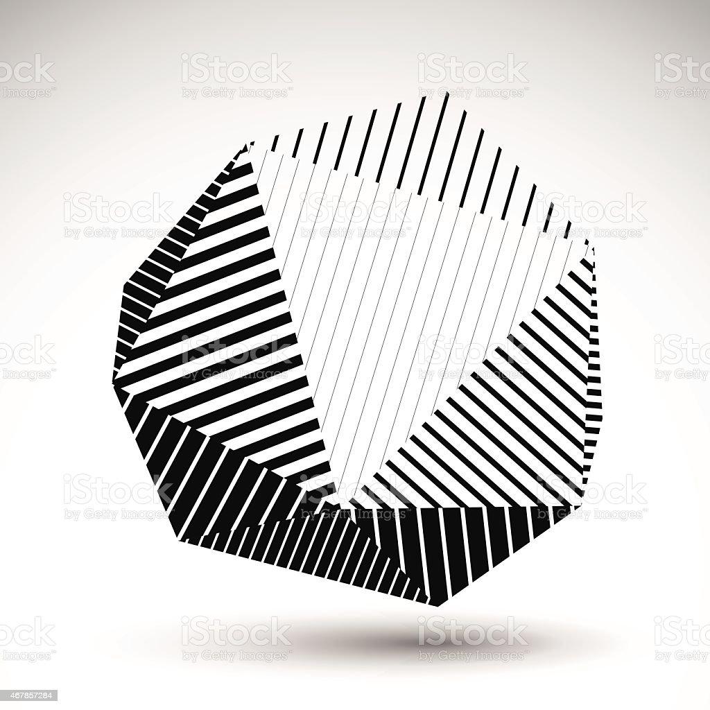 Symmetric spherical 3D vector technology illustration vector art illustration