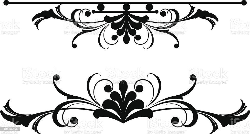 Symmetrical Black Leaf royalty-free stock vector art