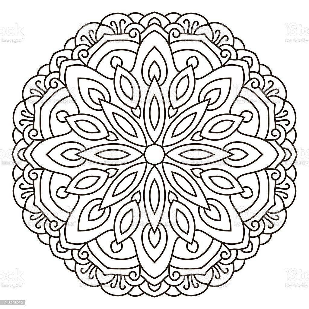 Symmetrische Kreisfu00f6rmigen Muster Mandala Stock Vektor Art Und Mehr Bilder Von Abstrakt ...