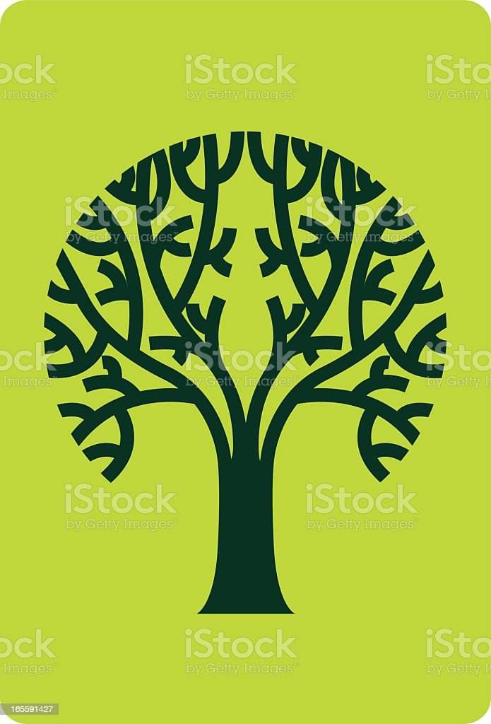Symmetrical Tree Symbol royalty-free symmetrical tree symbol stock vector art & more images of concepts
