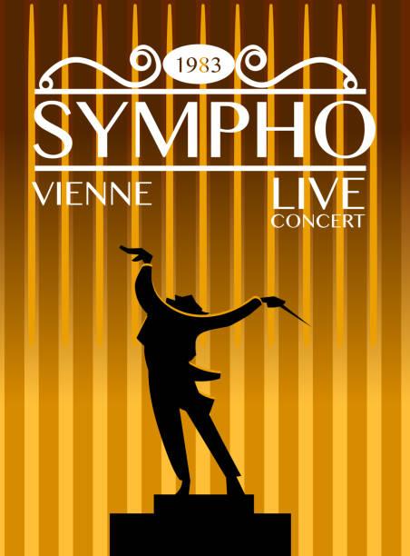 sympho vienna live concert concept - muzyka poważna stock illustrations
