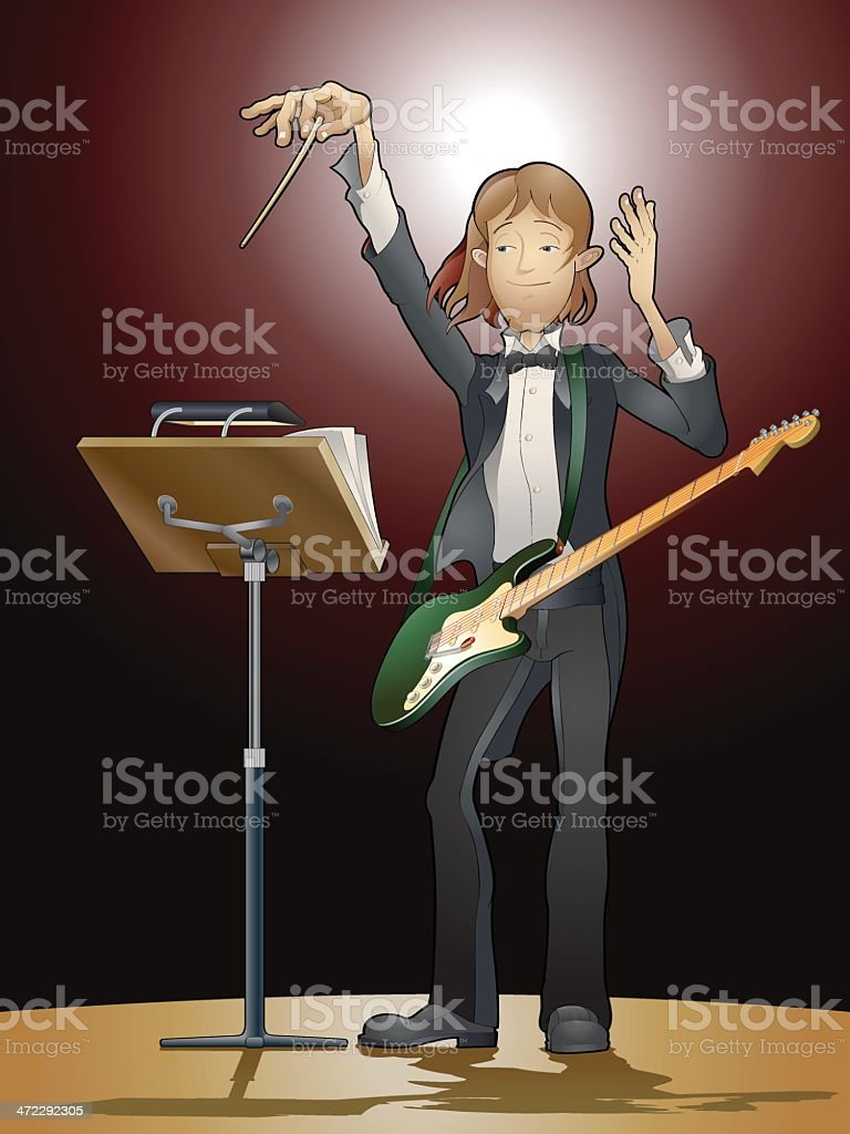 Symphonic Rock vector art illustration