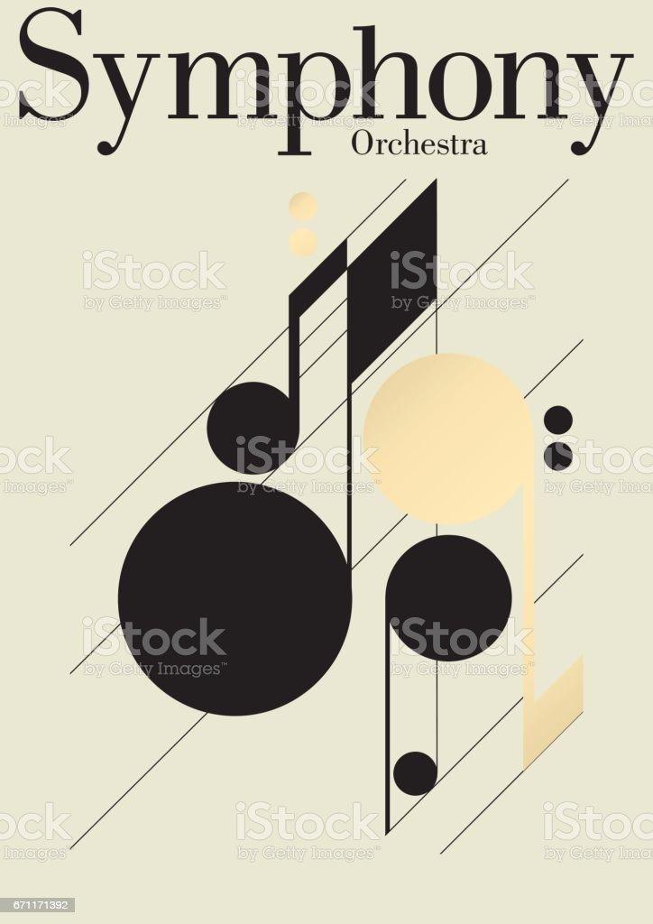 Symphony Music Festival Template vector art illustration
