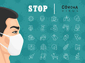 istock Symptoms and prevention of COVID-19 infographic 1216175530