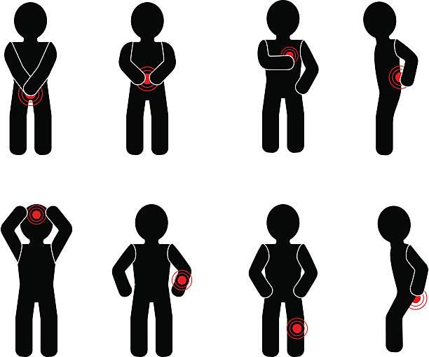 Symptoms vector art illustration