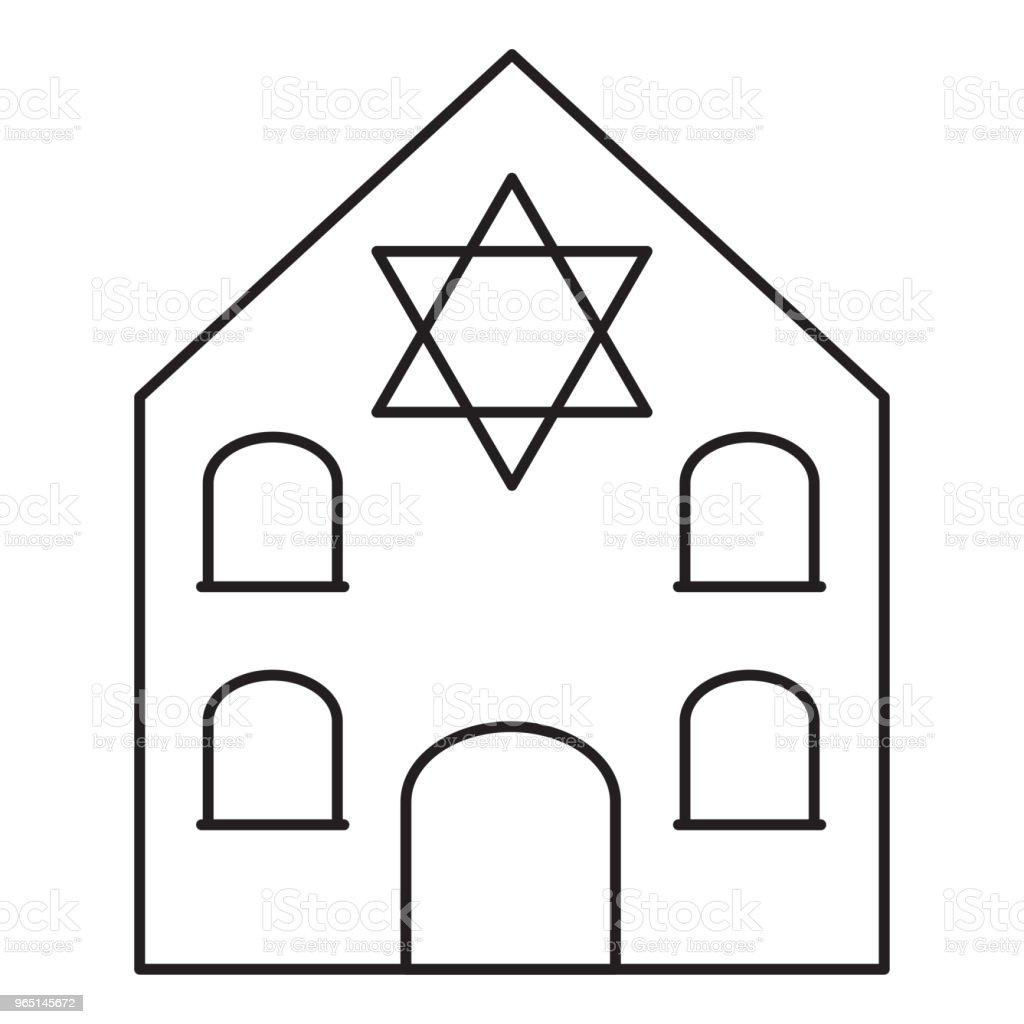 Synagogue line icon synagogue line icon - stockowe grafiki wektorowe i więcej obrazów architektura royalty-free