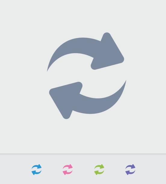 ilustraciones, imágenes clip art, dibujos animados e iconos de stock de sincronizar las flechas - iconos de granito - interruptor