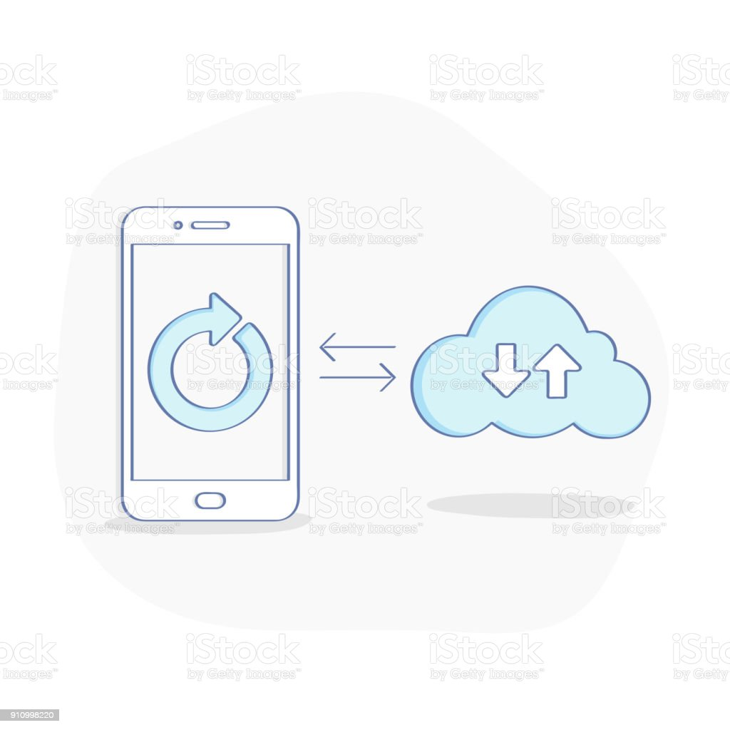 Sync Cloud Computing Data Sync Between Smartphone And Cloud Storage