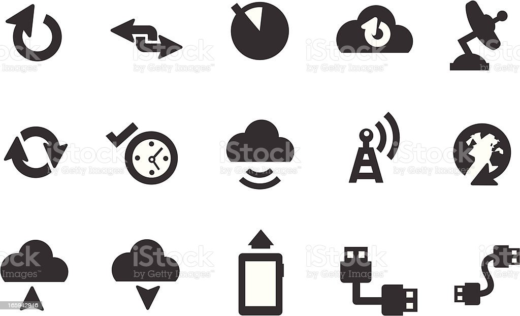 Sync, Upload Icons royalty-free stock vector art