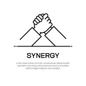Synergy Vector Line Icon - Simple Thin Line Icon, Premium Quality Design Element