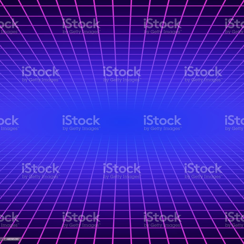 Synth Wave Retro Grid Background Synthwave 80s Vapor Vector Game Poster Neon Futuristic Laser Space Arcade Stock Illustration Download Image Now Istock