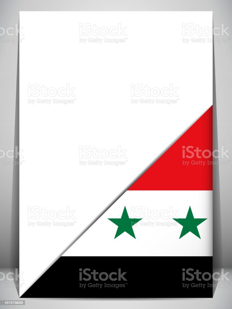 Syria Country Flag Turning Page royalty-free stock vector art