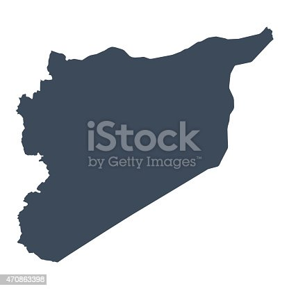 Syria country map