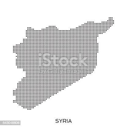 Syria dot halftone pattern map