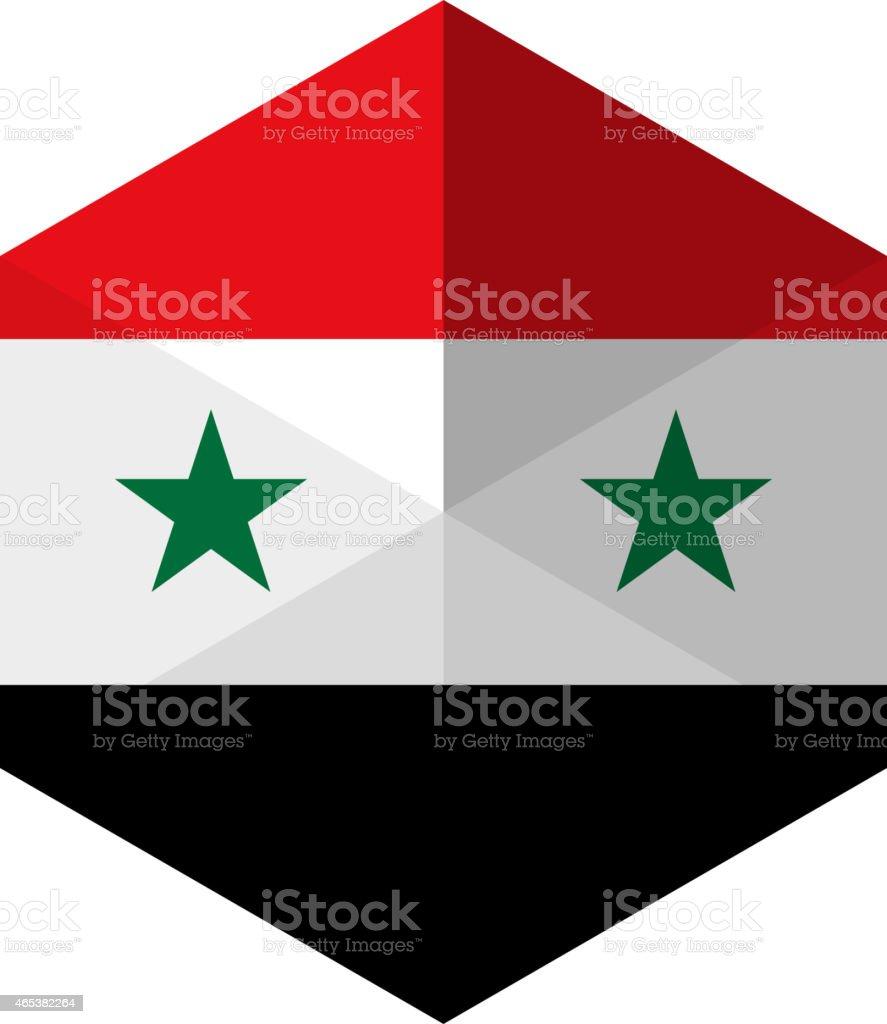 Syrische Flagge Sechseck Flache Iconbutton Vektor Illustration 465382264 |  IStock