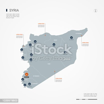istock Syria infographic map vector illustration. 1039978800