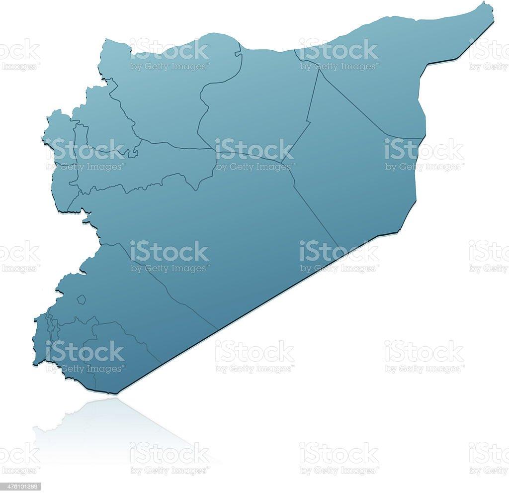 Ilustración De Siria Mapa Verde Y Más Banco De Imágenes De Asia