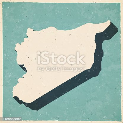 istock Syria map in retro vintage style - Old textured paper 1185588882