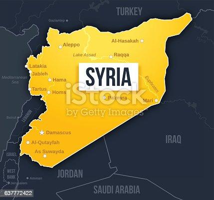istock Syria Map 637772422