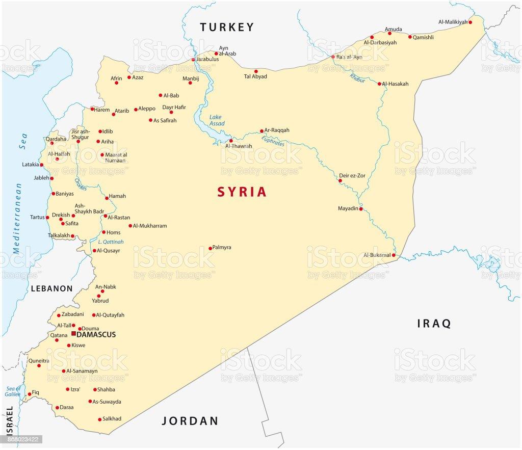 Karte Syrien.Syrien Karte Stock Vektor Art Und Mehr Bilder Von Abstrakt Istock