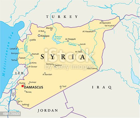 istock Syria Political Map 498125533