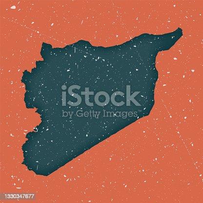Syria vintage map.