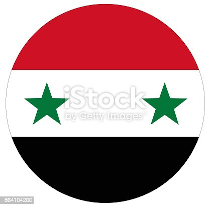 Syrian Flag Stock Vector Art & More Images of Asia 864104200