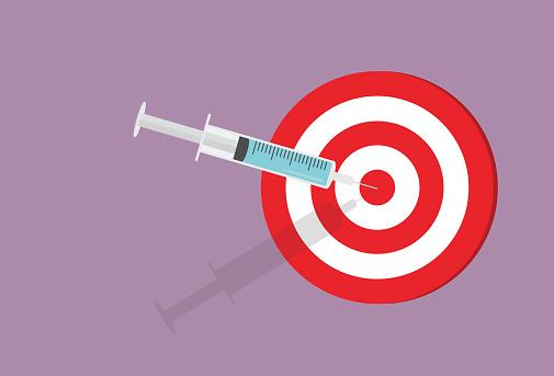 Syringe hit on a target