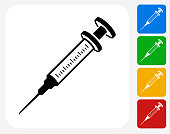 Syringe Icon Flat Graphic Design